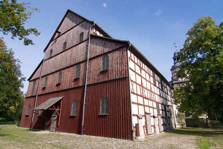 Kościół Pokoju w Jaworze od południowego zachodu