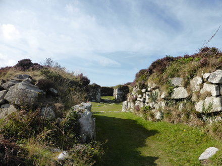 Chysauster ancient village, Cornwall