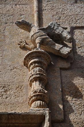Ciudad Rodrigo (Salamanca).  Palacio de los Águila. Detalle de la portada