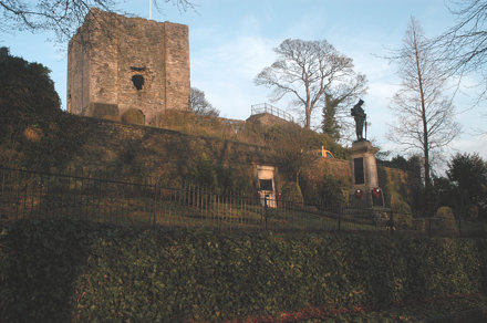 Clitheroe castle viewed from rememberance garden