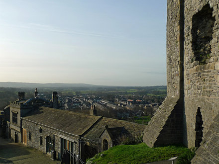 View over Clitheroe Castle and beyond