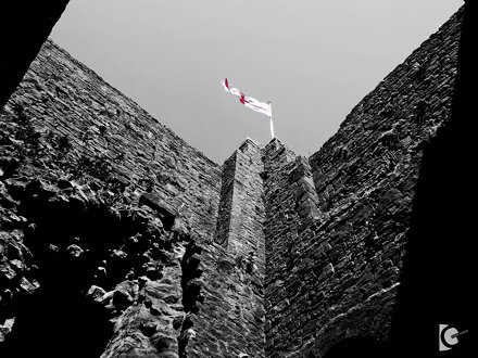 Clitheroe Castle, St Georges flag