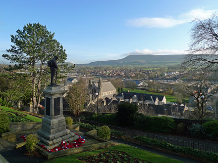War Memorial and Pendle Hill