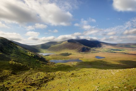 Coming down from the Connor Pass, Dingle Peninsula