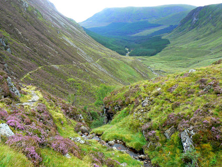 Jock's Road climbs out of Glen Doll