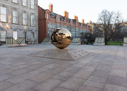 Arnaldo Pomodoro 'Sfera con Sfera' At Berkeley Library forecourt, Trinity College Dublin [