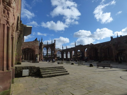 Return to the ruins of the old Coventry Cathedral