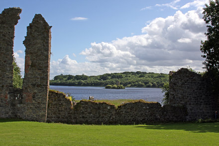 View of Crichton Castle from Crom Castle Ruins,Newtownbutler,Co.Fermanagh