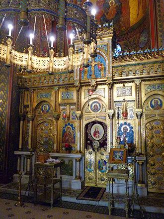 Curtea d'Arges - Mănăstirea Curtea de Argeș. iconostasis