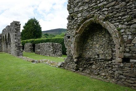352-20120610_Gwynedd-Llanelltyd-Cymer Abbey-view from Chancel along N wall of Nave-with N Aisle beyo
