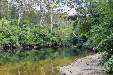 Blue Hole, Lane Cove River and De Burghs Bridge