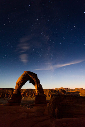 Moab: Delicate Arch meets the Milky Way