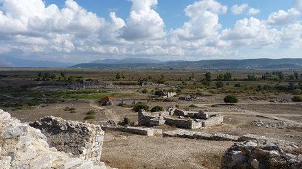 Miletus theatre view to Delphinion and stoa