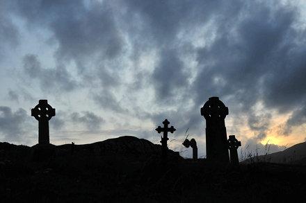 cemetery evening