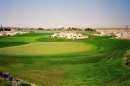 Doha Golf Course, Hole 16, Par 4, 306 yds, behind the green.