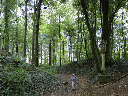 Walking a calvary on the Gehaansbierg in Budersberg
