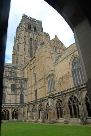 Cathedral from the cloisters (Durham, UK)