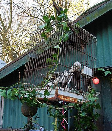 The Caged Skeleton On Eel Pie Island - Twickenham.