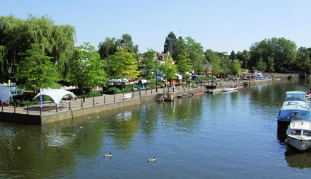 View Of The Thames From The Eel Pie Island Bridge, Twickenham - London.