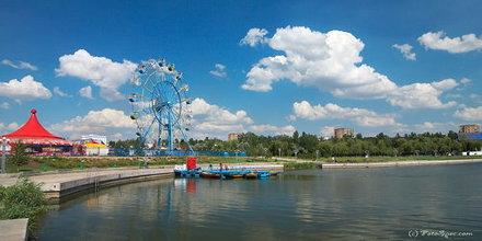 Mariupol, парк развлечений, река и набережная