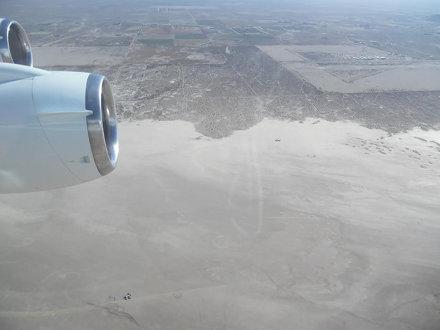 DC-8 Over El Mirage