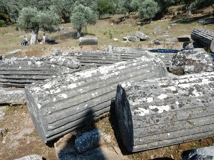 Column sections, Temple of Zeus