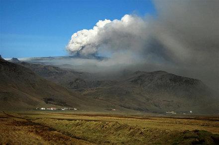 Eruption at Eyjafjallajökull