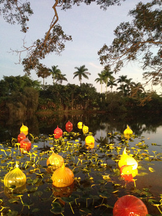 Chihuly at Night at Fairchild Tropical Botanic Garden