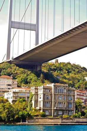 Mansion under the bridge