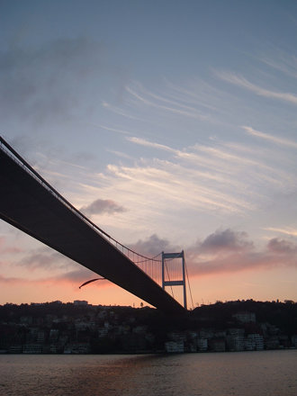 atatürk bridge, sunset