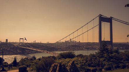 Otağtepe'den Fatih Sultan Mehmet Köprüsü İstanbul / TURKEY