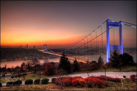 The Fatih Sultan Mehmet Bridge