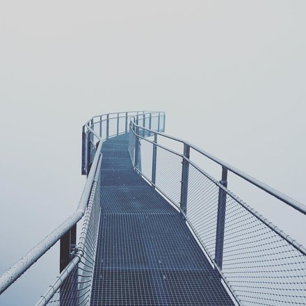 Walkway in the clouds.