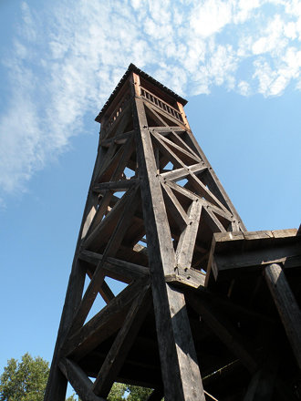 Lookout tower at Fort Edmonton