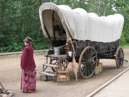 1885 Street Covered Wagon