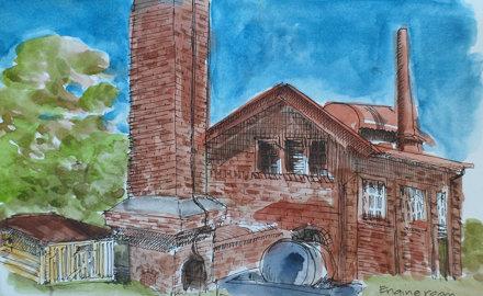 2014-08-17 Engine Room at Fort Lytton
