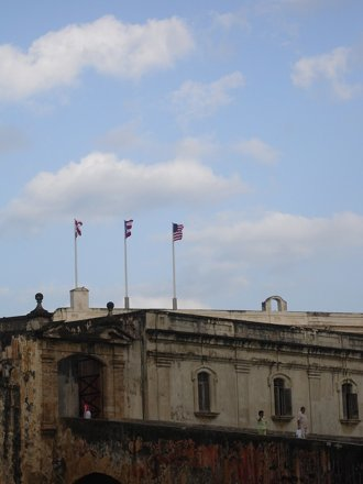 flags on the fort