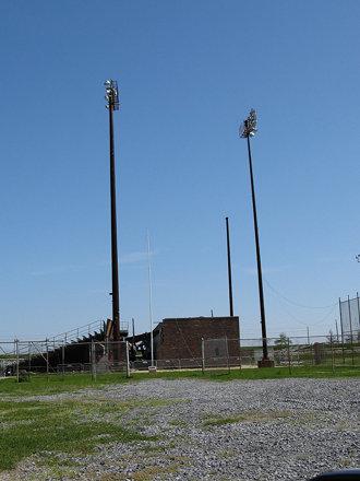 Football stadium, near Fort Jackson