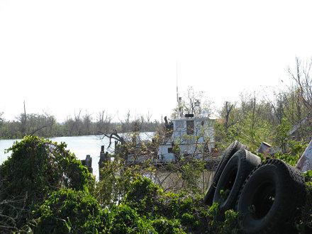 Beached Tugboat