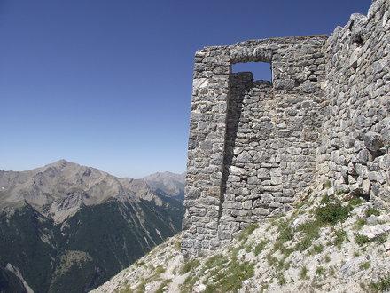 particolare forte Tete de Viraysse - Larche
