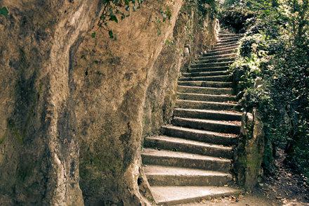 escalier courbes