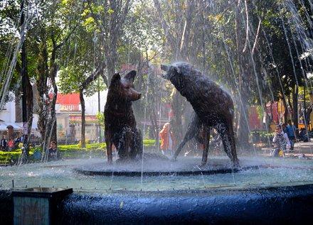 Fuente de los Coyotes en Coyoacán México.