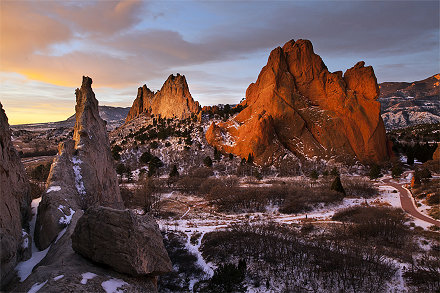 Sunrise Garden of Gods -  Colorado Springs, Colorado