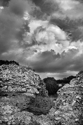 L1002366 Burgh Castle passing cloud Nos 2