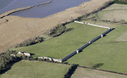 Burgh Castle aerial
