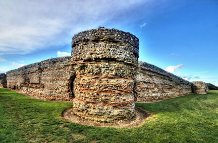 Roman fort, Burgh Castle, Norfolk