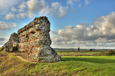Remains of a Roman fort, Norfolk