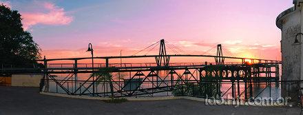 Puente General Belgrano desde el Club Canotaje Corrientes