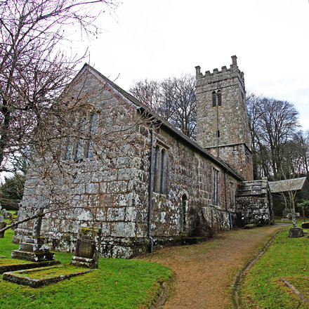 The Church of the Holy Trinity, Gidleigh, Devon, United Kingdom