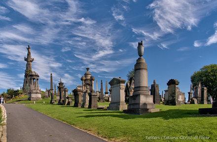 Sky. Necropolis. Glasgow